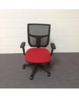 Mesh back operator chair- red