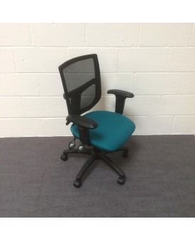 Mesh back operator chair- turquiose