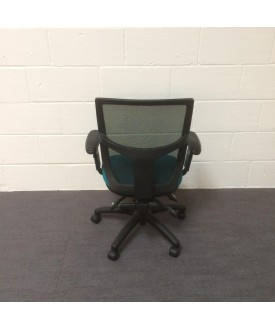 Mesh back operator chair- turquiose