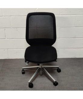 Orangebox Black Task Chair-No arms