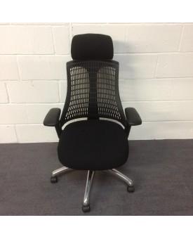 Black frameless task chair