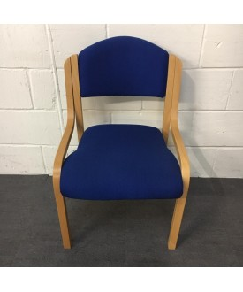 Blue Wooden Static Chair