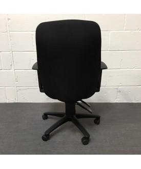 Black Task Chair- adjustable arms