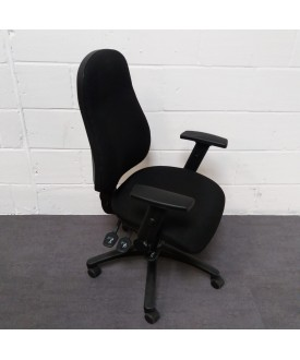 Black Task Chair With Lumbar Pump