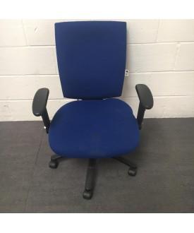 Ergonomic blue task chair