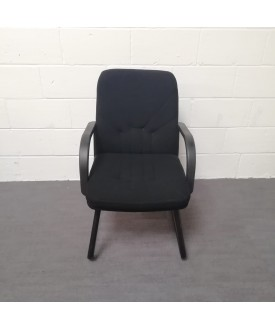 Black padded static chair