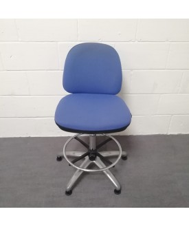 Blue Vector draughtsman chair