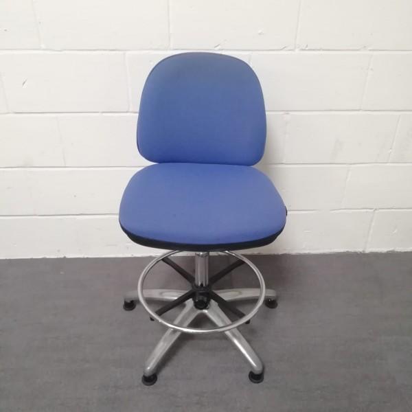 Blue Vector draughtsman chair