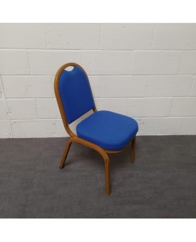 Baquet Blue meeting chair- gold frame