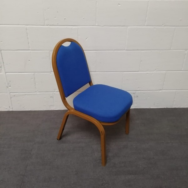 Blue meeting chair- gold frame