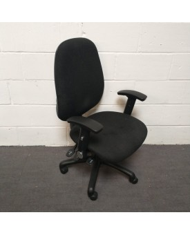 Black Operator Chair- Fully Loaded