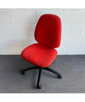 Red Operator Chair- No Arms