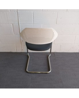 Boss Design Grey and White Static Chair