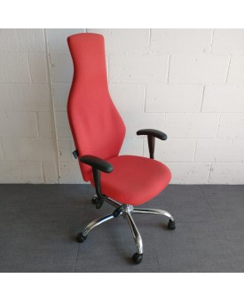 Red Physio Task Chair with Lumbar Pump