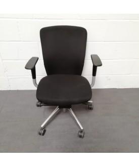 Black operator chair