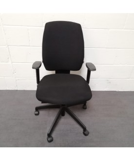 Black Task Chair- Adjustable arms