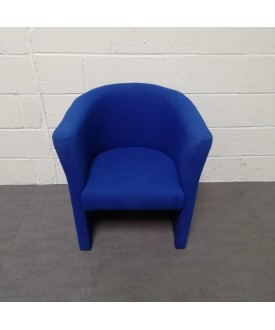 Blue Tub Reception Chair