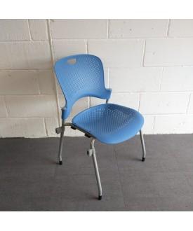 Herman Miller Blue Stacking Chair