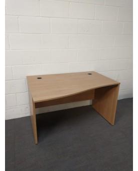 Beech wave desk- 1230 x 750 x 950
