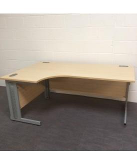 Maple left handed corner desk- 1800 x 1200