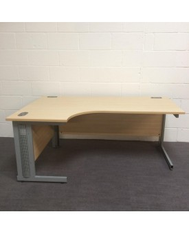 Maple left handed corner desk- 1800 x 1200- wear and tear