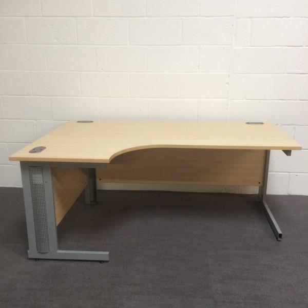 Maple left handed corner desk- 1800 x 1200- wear and tear