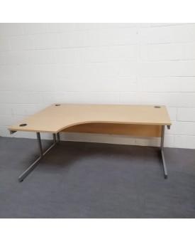 Light beech left handed corner desk - 1800 x 1200