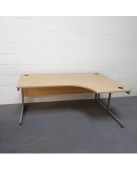 Light beech right handed corner desk - 1800 x 1200