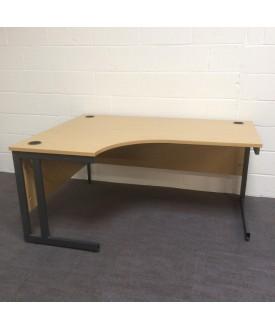 Oak left handed corner desk- 1600 x 1200