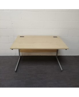 Maple straight desk and pedestal set- 1200 x 800