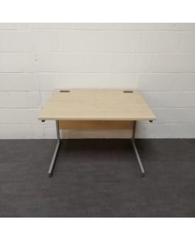 Maple straight desk and pedestal set- 1000 x 800