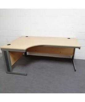Oak left handed corner desk - 1800 x 1200