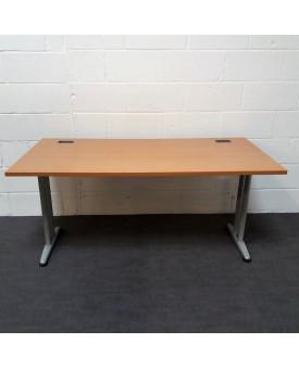 Beech straight desk- 1600 x 800