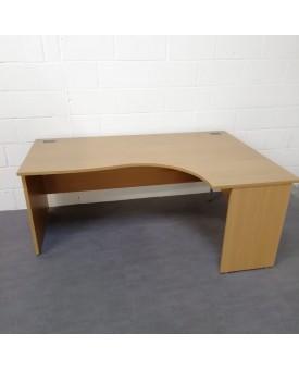 Oak right handed corner desk - 1800 x 1200
