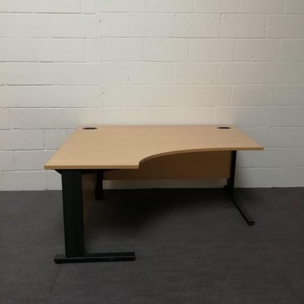 Beech left handed corner desk - 1600 x 1200