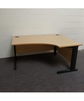 Beech right handed corner desk - 1600 x 1200