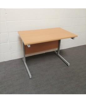 Beech straight desk - 1000 x 600