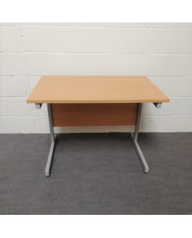 Beech straight desk - 1000 x 600