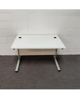White Straight Desk -1200 x 800