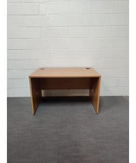 Oak wave left handed desk and pedestal set- 1600 x 800 x 1000- GRADE B