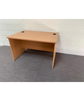 Beech straight desk- 1200 x 800