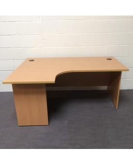 Beech left handed corner desk- 1600 x 1200