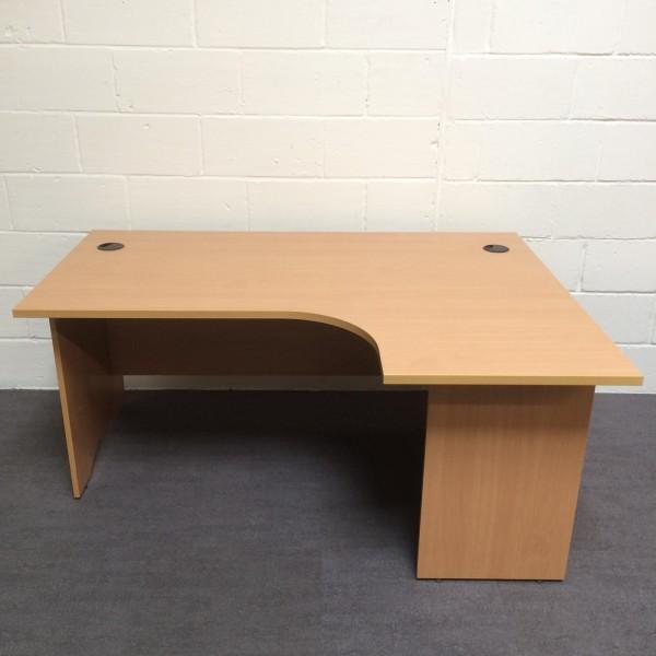 Beech right handed corner desk- 1600 x 1200