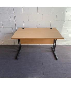 Beech straight desk- 1200 x 800