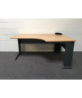 Beech right handed corner desk- 1600 x 1200