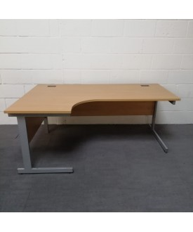 Beech left handed corner desk - 1800 x 1200