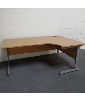 Beech right handed corner desk - 1800 x 1200