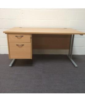 Beech 1400 x 800 straight desk
