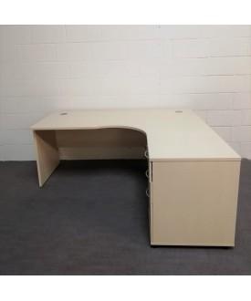 Light maple right handed corner desk 1800 x 1200 (pedestal not included)