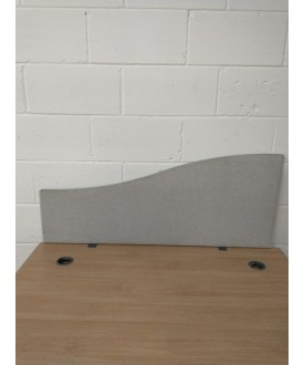 Light grey straight desk divider - 1200